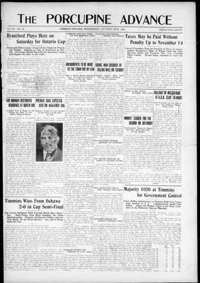 Porcupine Advance, 29 Oct 1924