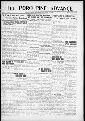 Porcupine Advance, 5 Nov 1924