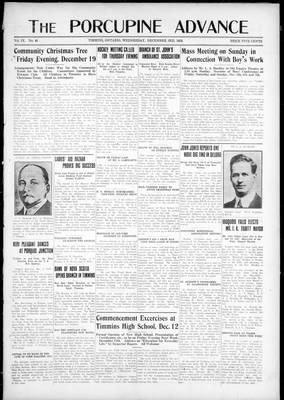 Porcupine Advance, 3 Dec 1924