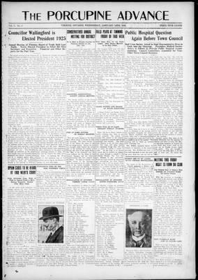 Porcupine Advance, 14 Jan 1925