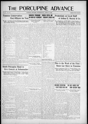 Porcupine Advance, 1 Apr 1925