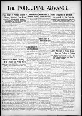 Porcupine Advance, 15 Apr 1925