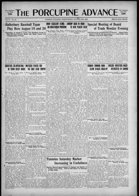 Porcupine Advance, 12 Aug 1925