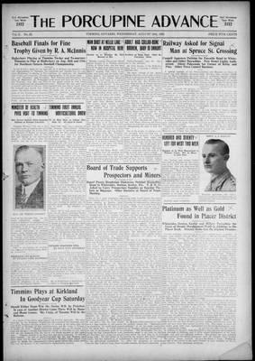 Porcupine Advance, 19 Aug 1925
