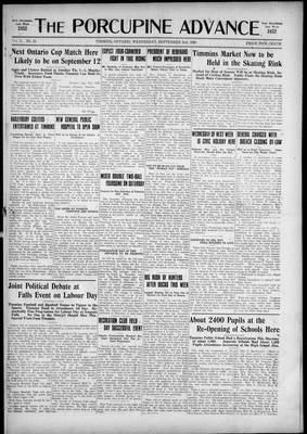 Porcupine Advance, 2 Sep 1925