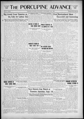 Porcupine Advance, 10 Sep 1925