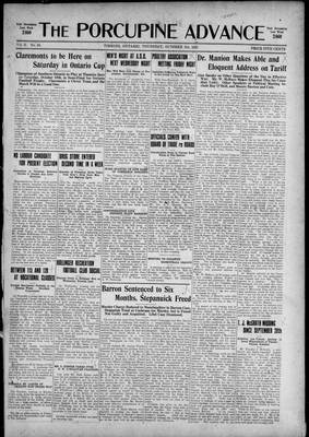 Porcupine Advance, 8 Oct 1925