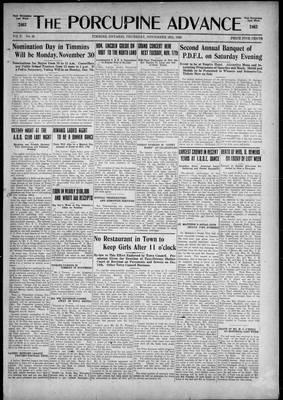 Porcupine Advance, 12 Nov 1925