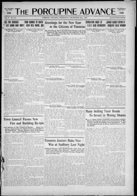 Porcupine Advance, 31 Dec 1925
