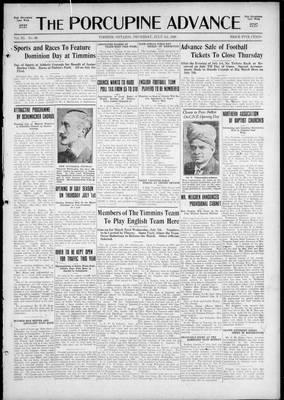 Porcupine Advance, 1 Jul 1926