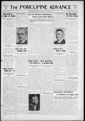 Porcupine Advance, 22 Jul 1926