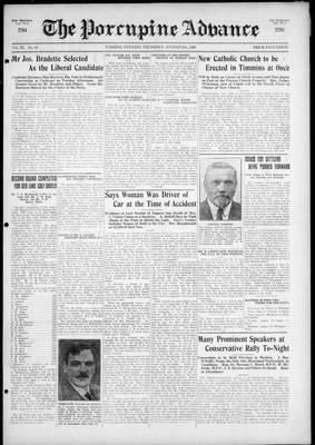 Porcupine Advance, 5 Aug 1926