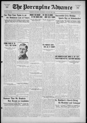 Porcupine Advance, 12 Aug 1926