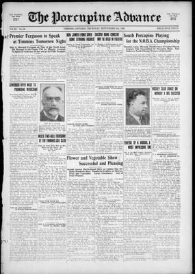 Porcupine Advance, 9 Sep 1926