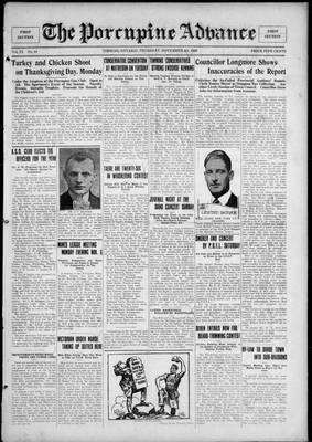Porcupine Advance, 4 Nov 1926