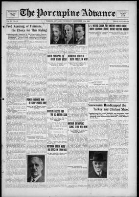 Porcupine Advance, 11 Nov 1926