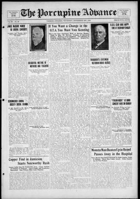 Porcupine Advance, 18 Nov 1926