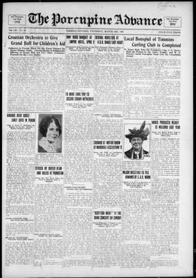 Porcupine Advance, 24 Mar 1927