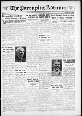 Porcupine Advance, 7 Apr 1927