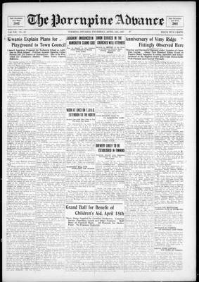 Porcupine Advance, 14 Apr 1927