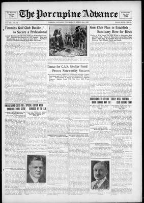 Porcupine Advance, 21 Apr 1927