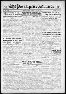 Porcupine Advance, 21 Jul 1927