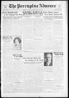 Porcupine Advance, 1 Sep 1927
