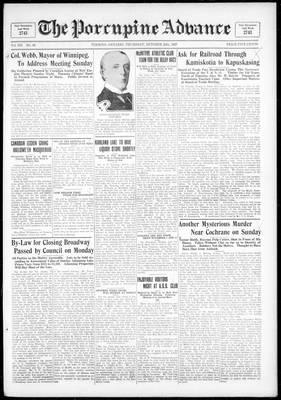 Porcupine Advance, 20 Oct 1927