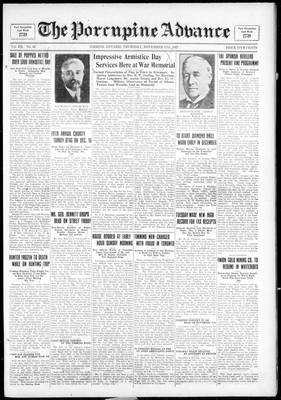 Porcupine Advance, 17 Nov 1927
