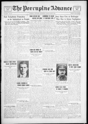 Porcupine Advance, 29 Mar 1928