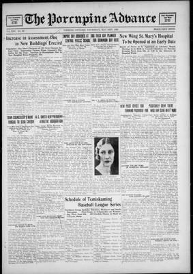 Porcupine Advance, 31 May 1928