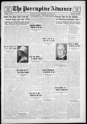 Porcupine Advance, 28 Jun 1928
