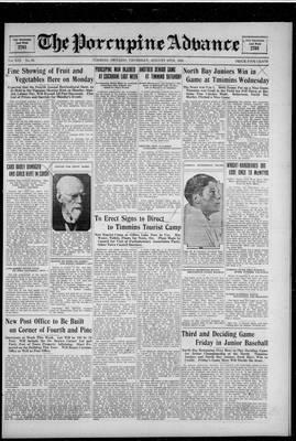 Porcupine Advance, 30 Aug 1928