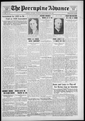 Porcupine Advance, 13 Sep 1928