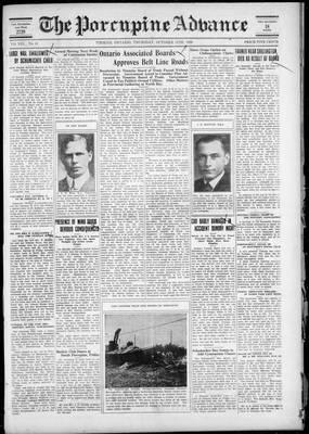 Porcupine Advance, 11 Oct 1928
