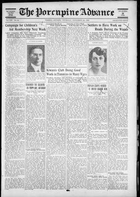 Porcupine Advance, 8 Nov 1928