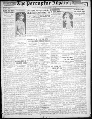 Porcupine Advance, 3 Jan 1929