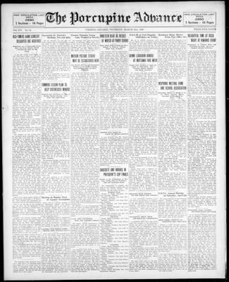 Porcupine Advance, 21 Mar 1929