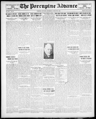 Porcupine Advance, 6 Jun 1929