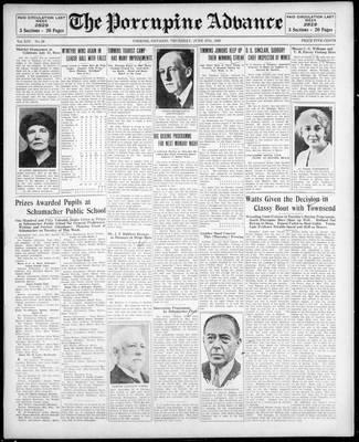 Porcupine Advance, 27 Jun 1929