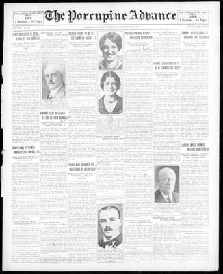 Porcupine Advance, 8 Aug 1929