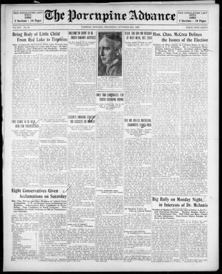 Porcupine Advance, 24 Oct 1929