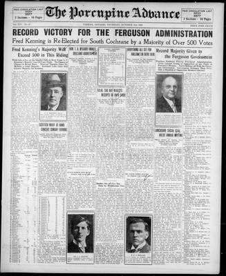 Porcupine Advance, 31 Oct 1929