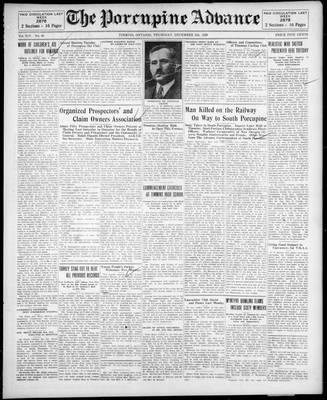 Porcupine Advance, 5 Dec 1929