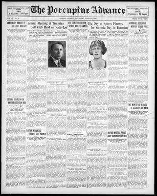 Porcupine Advance, 8 May 1930