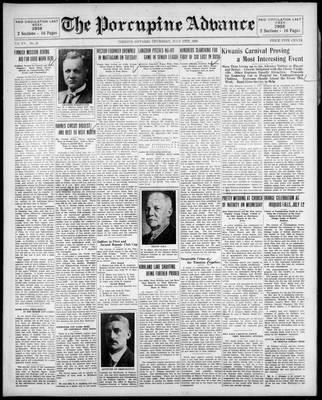 Porcupine Advance, 10 Jul 1930