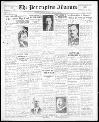 Porcupine Advance, 14 Aug 1930