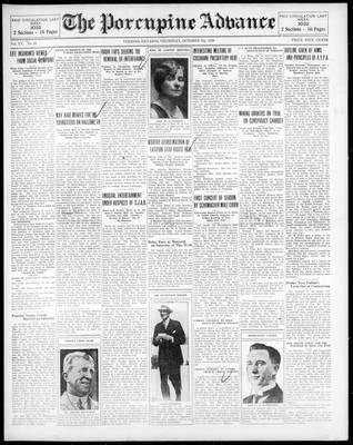 Porcupine Advance, 9 Oct 1930