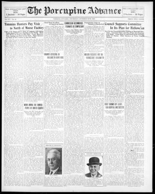 Porcupine Advance, 30 Oct 1930