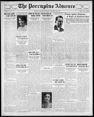 Porcupine Advance, 13 Nov 1930